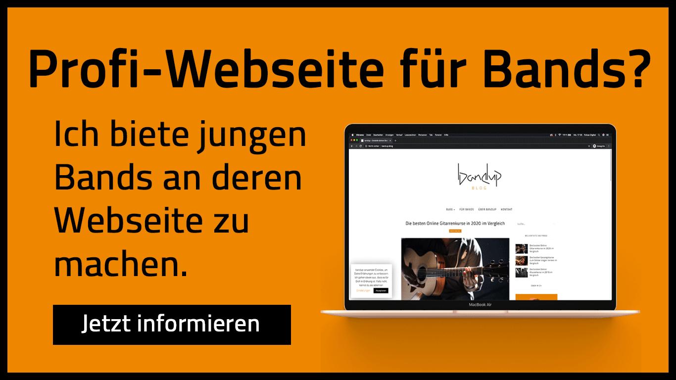 Profi Webseite für Musiker und Bands