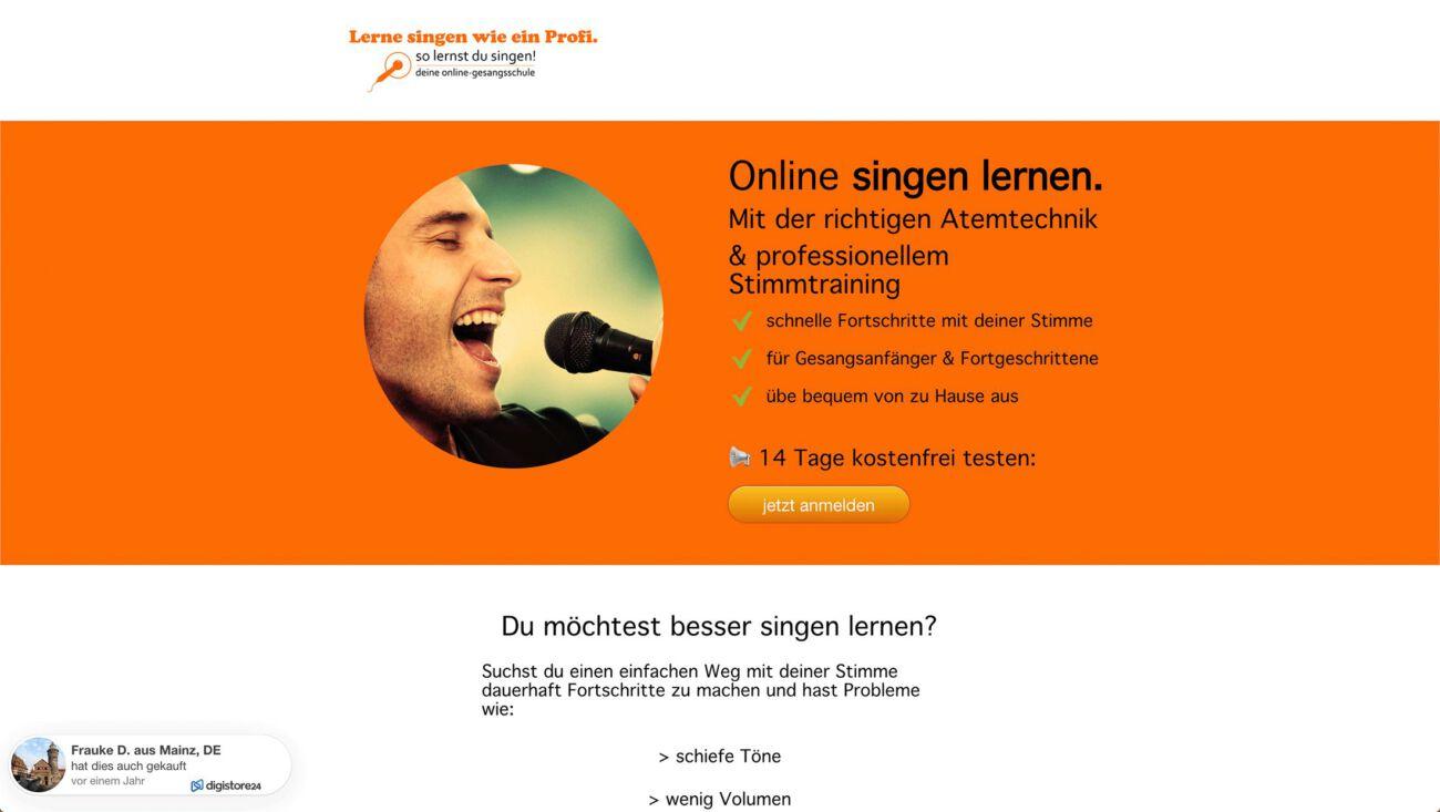 Der Online Gesangskurs von Andrea