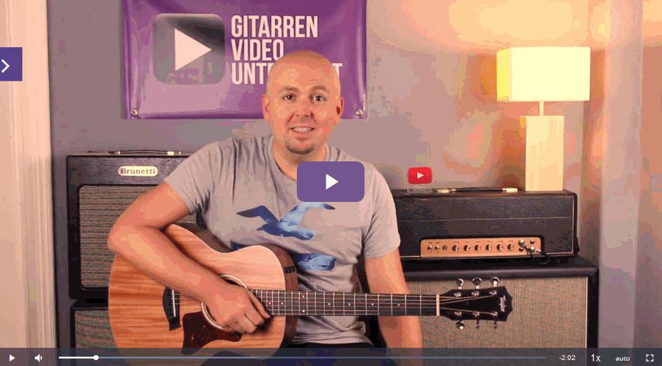 gitarre noten lernen Video