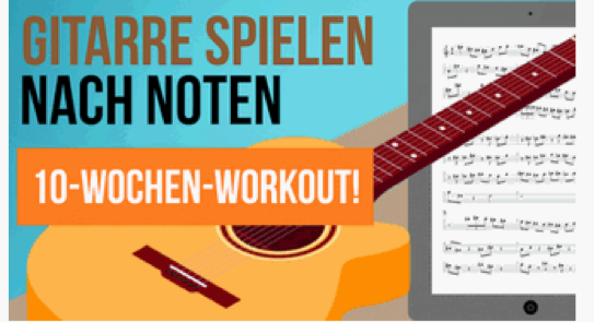 gitarre noten lernen