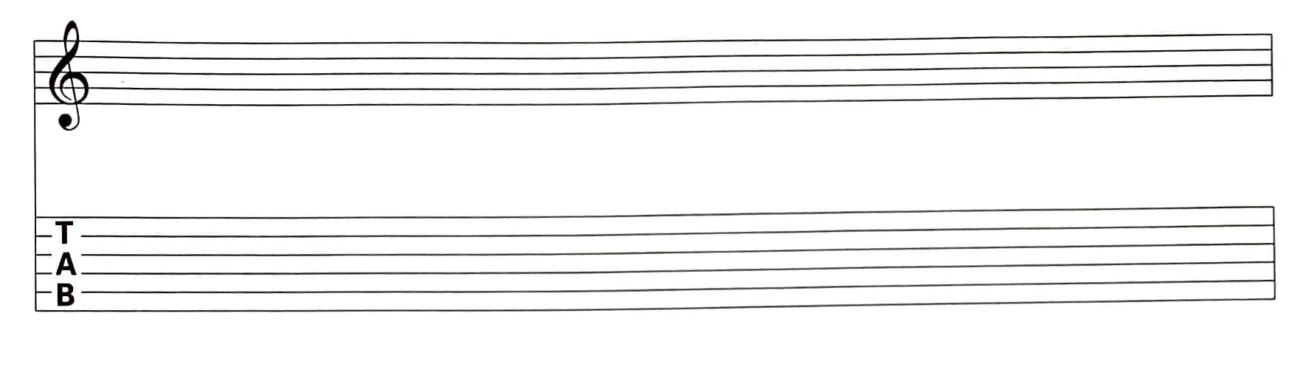 Notensystem Tabulatur